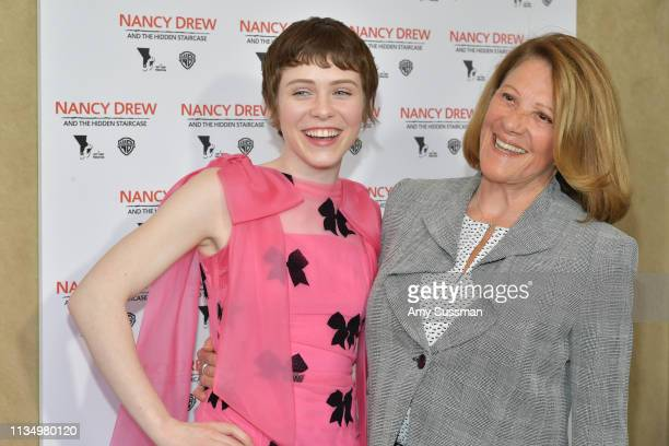 Sophia Lillis and Linda Lavin attend the world premiere of Nancy Drew And The Hidden Staircase at AMC Century City 15 on March 10 2019 in Century...