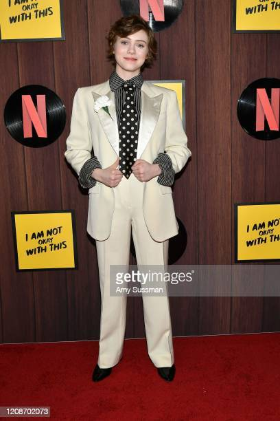 Sophia Lillis attends Netflix's I Am Not Okay With This Photocall at The London West Hollywood on February 25 2020 in West Hollywood California