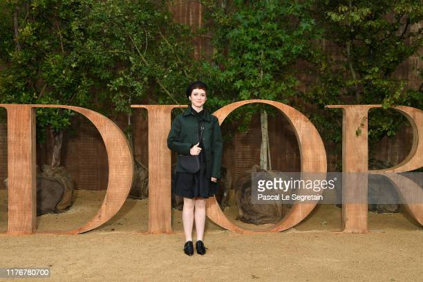 Sophia Lillis attends the Christian Dior Womenswear Spring/Summer 2020 show as part of Paris Fashion Week on September 24 2019 in Paris France