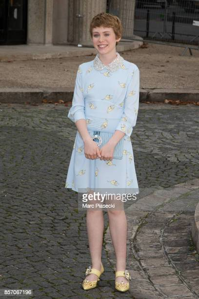 Sophia Lillis attends the 'Miu Miu' fashion show on October 3 2017 in Paris France