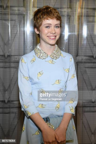 Sophia Lillis attends the Miu Miu show as part of the Paris Fashion Week Womenswear Spring/Summer 2018 on October 3 2017 in Paris France