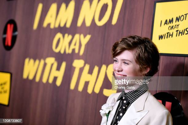 Sophia Lillis attends the premiere of Netflix's I Am Not Okay With This at The London West Hollywood on February 25 2020 in West Hollywood California