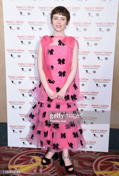 Sophia Lillis attends the red carpet premiere of Nancy Drew and the Hidden Staircase at AMC Century City 15 on March 10 2019 in Century City...