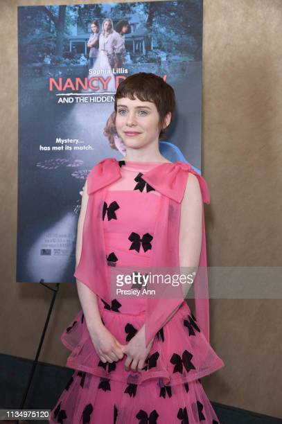 Sophia Lillis attends the red carpet premiere of 'Nancy Drew and the Hidden Staircase' at AMC Century City 15 on March 10 2019 in Century City...