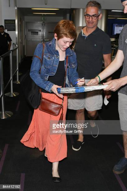 Sophia Lillis is seen at LAX on September 08 2017 in Los Angeles California