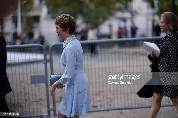 Sophia Lillis outside Miu Miu during Paris Fashion Week Womenswear Spring/Summer 2018 on October 3 2017 in Paris France