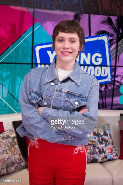 Sophia Lillis visits the Young Hollywood Studio on March 12 2019 in Los Angeles California