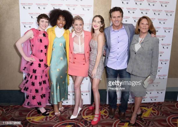 Sophia Lillis Zoe Renee Laura Wiggins Mackenzie Graham Jon Briddell and Linda Lavin attend the red carpet premiere of 'Nancy Drew and the Hidden...