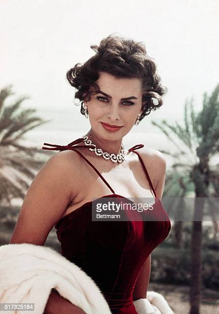 1957 Sophia Loren actress Waist up