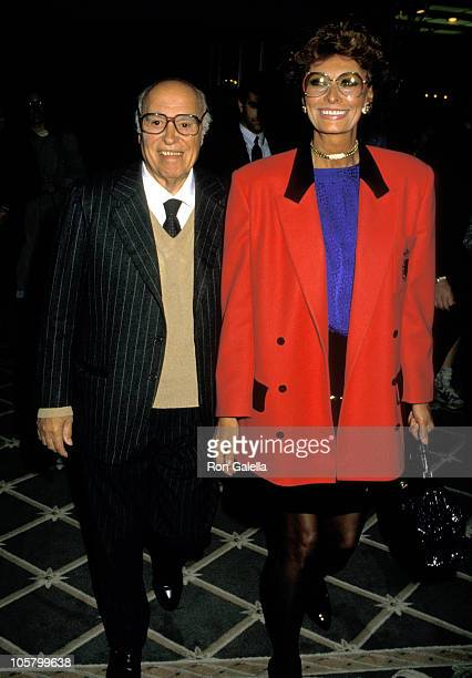 Sophia Loren and Carlo Ponti during NBC MidSeason Affiliate Lunch Press Conference January 5 1988 at Century Plaza Hotel in Los Angeles California...