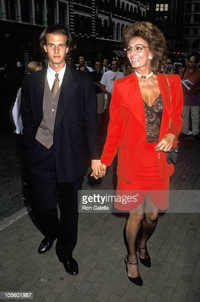 Sophia Loren and Eduardo Ponti during Special Screening of Restored 1961 Film El Cid August 5 1993 at Joseph Papp Public Theater in New York City New...