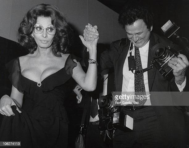 Sophia Loren and Ron Galella during 9th Annual Fragrance Ball at Sheraton Center in New York City New York United States