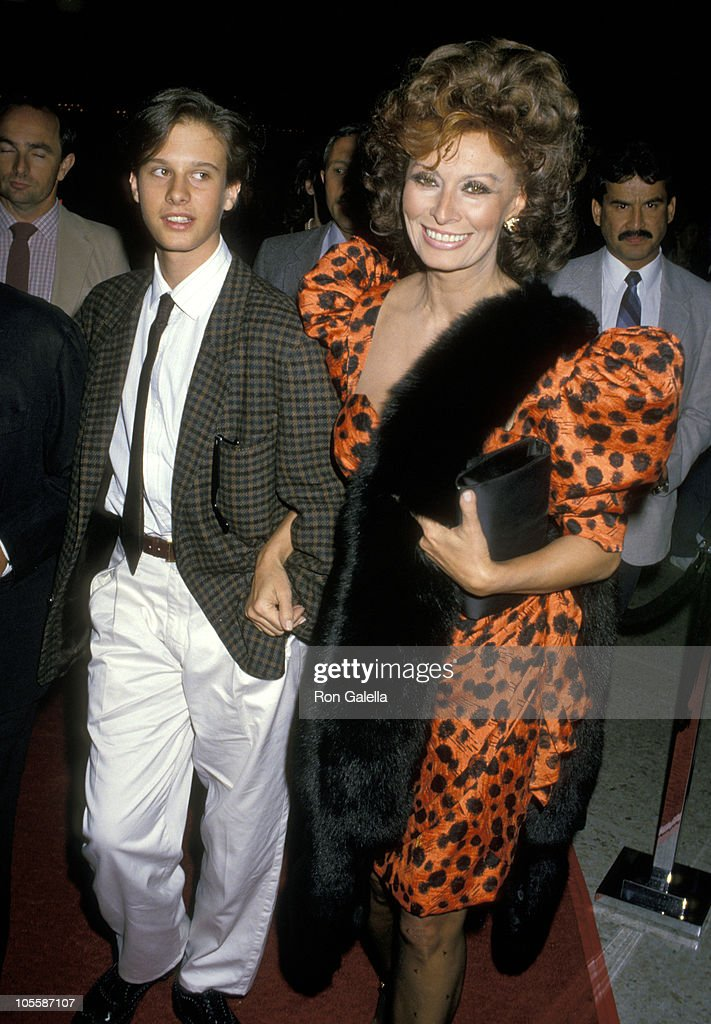 Sophia Loren and Son Edoardo Ponti during Premiere of 'Fortunate Pilgrim' - March 31, 1988 at Cineplex Odeon Cinemas in Century City, California, United States.