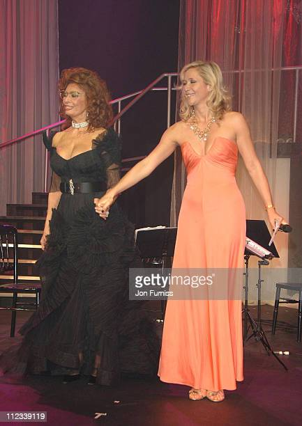 Sophia Loren and Tanya Bryer during 2007 Pirelli Calendar Launch Cocktail Reception and Gala Dinner at Battersea Evolution in London Great Britain