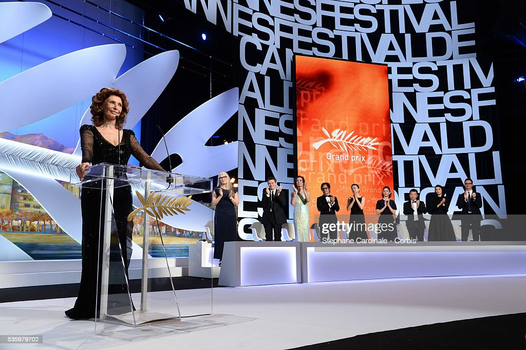 Sophia Loren and the jury members at the Closing Ceremony during 67th Cannes Film Festival