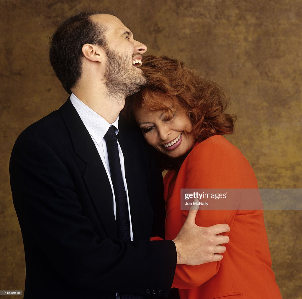 Sophia Loren and youngest son, Edoardo Ponti pose for a photo on May 30, 2001 in Toronto, Canada. Edoardo directed his mother in her 100th film, Between Strangers.