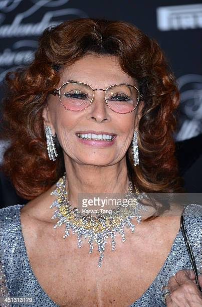 Sophia Loren arrives for Pirelli's 50th anniversary Gala dinner held at HangarBicocca on November 21 2013 in Milan Italy