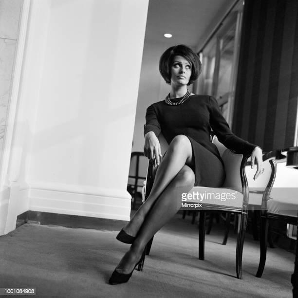 Sophia Loren at a reception in the River Room of the Savoy Hotel. She is here to make the film 'Operation Crossbow', 1st November 1964.