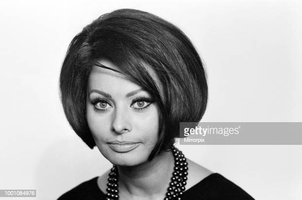 Sophia Loren at a reception in the River Room of the Savoy Hotel She is here to make the film 'Operation Crossbow' 1st November 1964