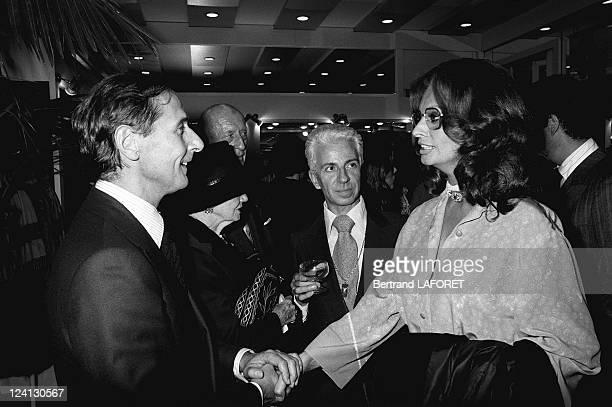 Sophia Loren at Christian Dior fashion show in Paris France on September 28 1976 Marc Bohan Frederic Castet Sophia Loren