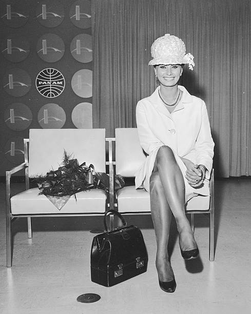 Sophia Loren at International Airport.