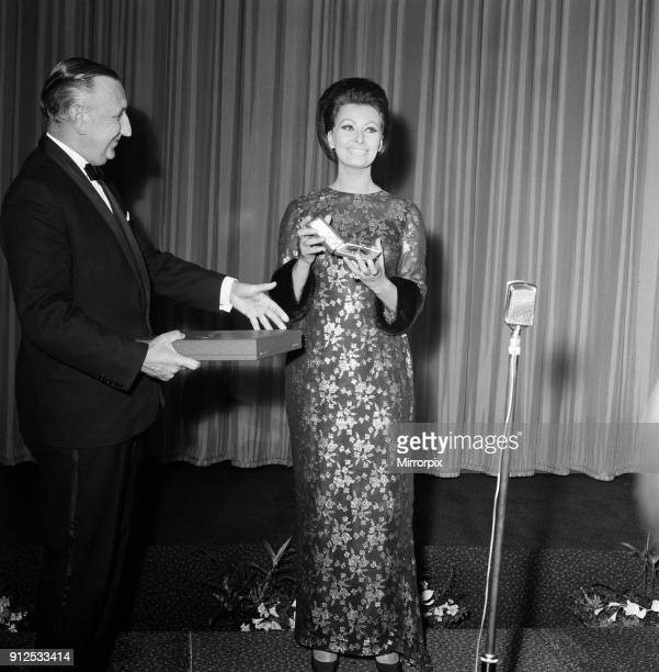 Sophia Loren at the Empire Leicester Square for the premier of her latest film 'Lady L' Before the showing of the film Sophia was presented with the...