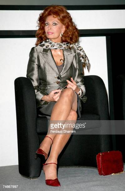 Sophia Loren at the Hilton in London United Kingdom