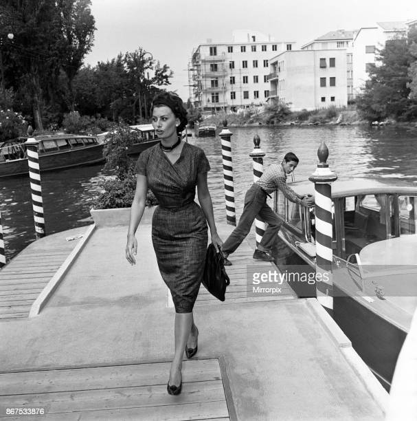 Sophia Loren at the Venice Film Festival September 1958