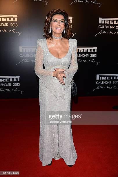 Sophia Loren attends the '2013 Pirelli Calendar Unveiling' on November 27 2012 in Rio de Janeiro Brazil