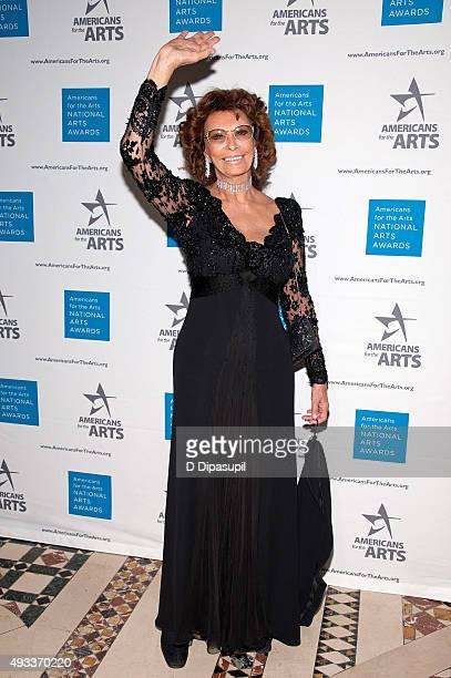 Sophia Loren attends the 2015 National Arts Awards at Cipriani 42nd Street on October 19 2015 in New York City