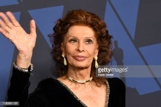 Sophia Loren attends the Academy Of Motion Picture Arts And Sciences' 11th Annual Governors Awards at The Ray Dolby Ballroom at Hollywood Highland...