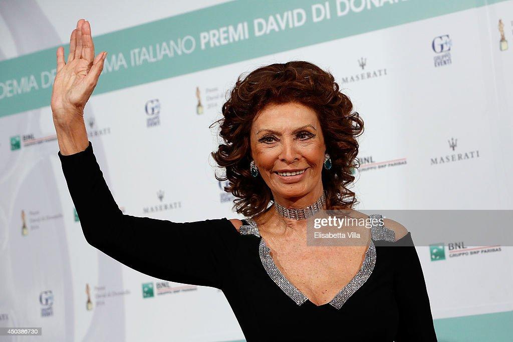 Sophia Loren attends the David Di Donatello Awards Ceremony at the Dear Studios on June 10, 2014 in Rome, Italy.