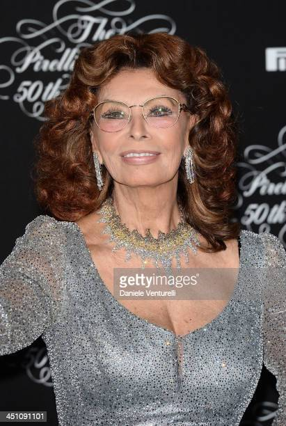 Sophia Loren attends the Pirelli Calendar 50th Anniversary event on November 21 2013 in Milan Italy