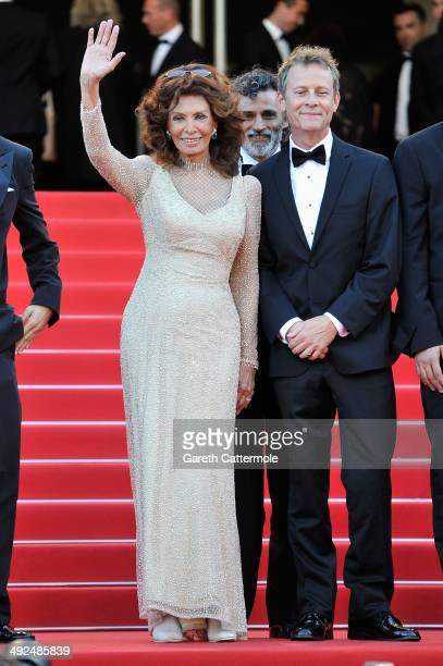 Sophia Loren attends the Premiere of Voce Umana at the 67th Annual Cannes Film Festival on May 20 2014 in Cannes France