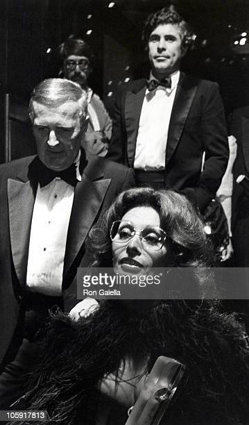 Sophia Loren Donald Flannery and Alex Ponti during 9th Annual Fragrance Ball at Sheraton Center in New York City New York United States
