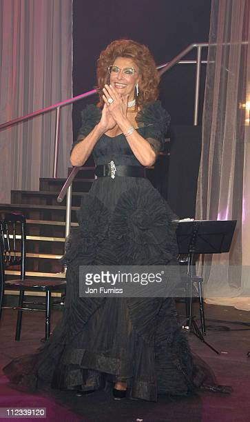 Sophia Loren during 2007 Pirelli Calendar Launch Cocktail Reception and Gala Dinner at Battersea Evolution in London Great Britain