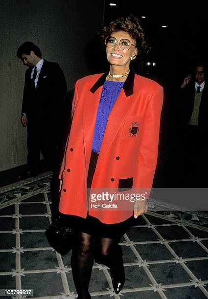 Sophia Loren during NBC MidSeason Affiliate Lunch Press Conference January 5 1988 at Century Plaza Hotel in Los Angeles California United States