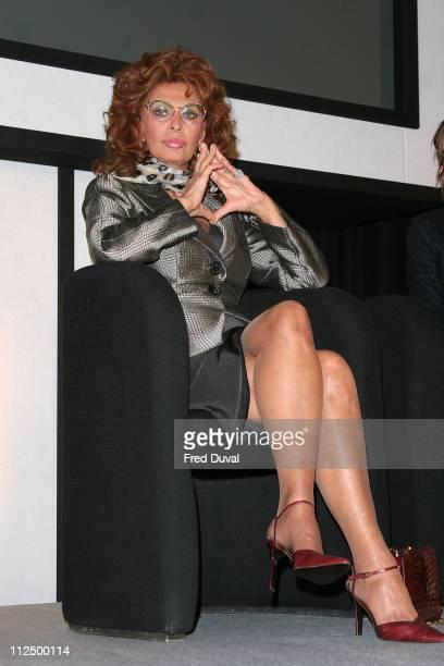Sophia Loren during Pirelli 2007 Calender News Conference at Hilton Park Lane in London Great Britain