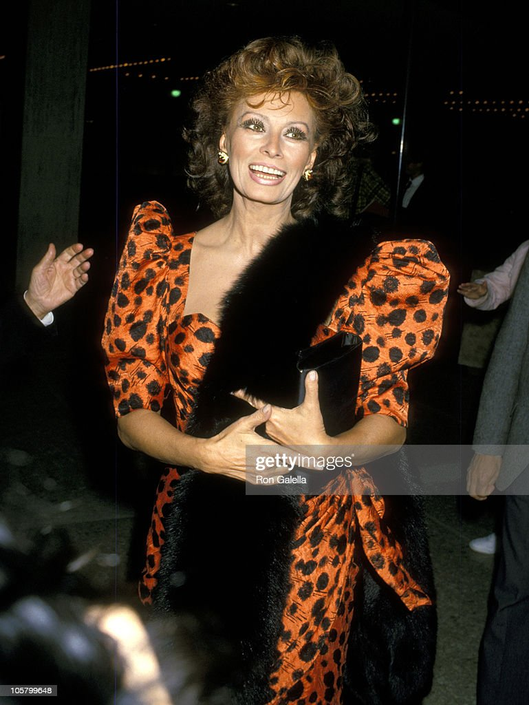 Sophia Loren during Premiere of 'Fortunate Pilgrim' - March 31, 1988 at Cineplex Odeon Cinemas in Century City, California, United States.