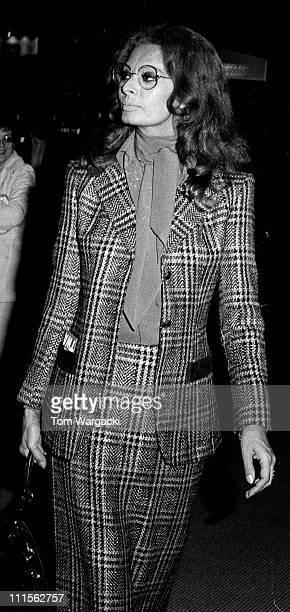 Sophia Loren during Sophia Loren Sighting at JFK Airport May 17 1971 at JFK Airport in New York City United States