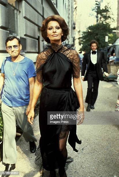 Sophia Loren heading to a film set circa 1978 in New York City