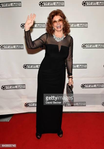 Sophia Loren impersonator Vera Novak attends The Reel Awards 2017 at the Golden Nugget Hotel Casino on February 20 2017 in Las Vegas Nevada