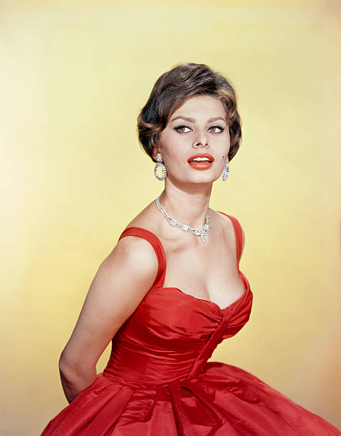 sophia loren in red gown pictures getty images. Black Bedroom Furniture Sets. Home Design Ideas