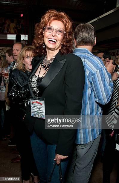 Sophia Loren lookalike Vera Novak attends the Rock Brews opening night party at Rock Brews on April 3 2012 in El Segundo California