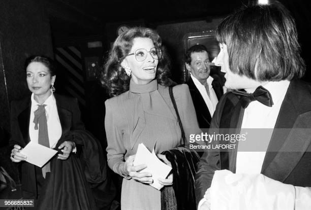Sophia Loren lors de la 1ère d'Alice Dona à l'Olympia en septembre 1979 à Paris France