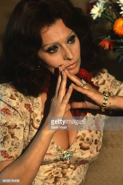 Sophia Loren posing for a photo with Rolex on March 22, 1979 in New York, New York.