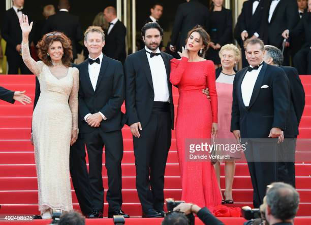 Sophia Loren William Goodrum Massimiliano di Lodovico Catrinel Marlon and guest attend Voce Umana Premiere during the 67th Annual Cannes Film...