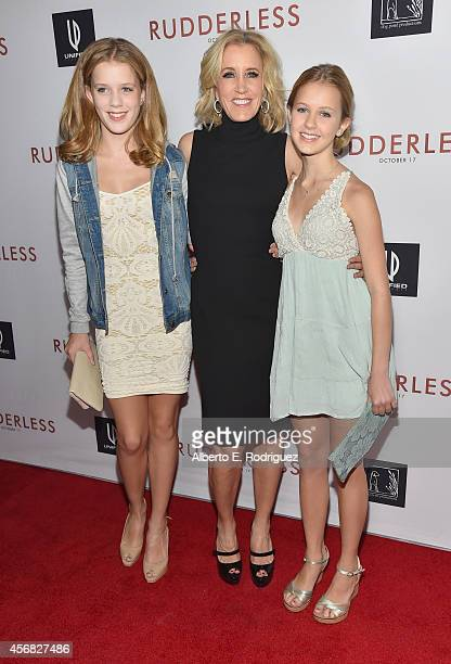 Sophia Macy actress Felicity Huffman and Grace Macy attend the Screening Of Samuel Goldwyn Films' Rudderless at the Vista Theatre on October 7 2014...