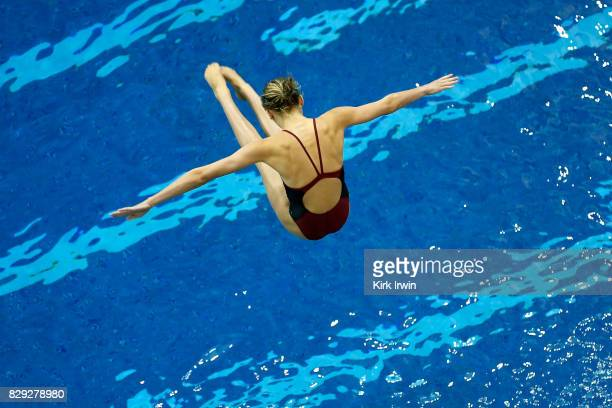 Sophia McAfee of the Trojan Dive Club competes during the Senior Women's 3m Springboard Preliminary during the 2017 USA Diving Summer National...