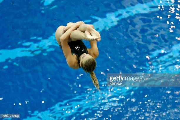 Sophia McAfee of the Trojan Dive Club competes during the Senior Women's 3m Springboard Final during the 2017 USA Diving Summer National...